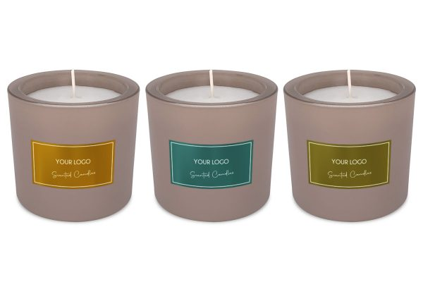 BottleX White Label Homecare Scented Candle Frozen Glass Samples